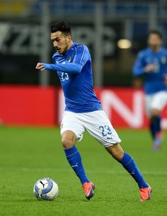 Nicola Sansone of Italy in action during the International Friendly Match between Italy and Germany at Giuseppe Meazza Stadium on November 15, 2016 in Milan, Italy.