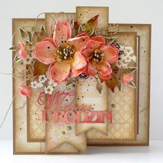 Handmade Greetings, Greeting Cards Handmade, Old Birthday Cards, Mothersday Cards, Heartfelt Creations Cards, Shabby, Shaped Cards, Beautiful Handmade Cards, Pretty Cards