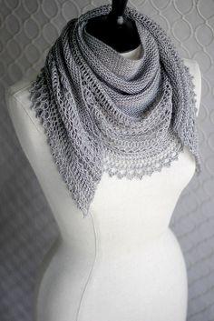 Soft gray shawl.