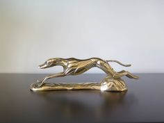 Solid Brass Greyhound Decorative Object Courser Whippet Midcentury Dog by TitoWanderlust on Etsy