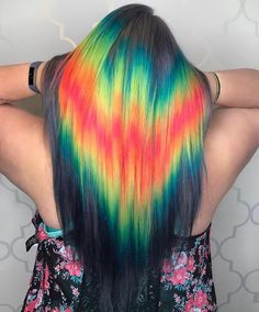 One of the new hair trends for 2017 is an optical illusion. Known as the shine line hair trend, it looks like a rainbow laser beam is pointed at your hair.