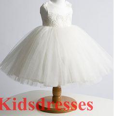 A line flower Girl  princess flower girl Dress  by kidsdresses, $46.00