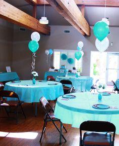 table set up Milk & Cookies baby shower http://macdonaldsplayland.blogspot.com/2013/02/milk-cookies-baby-shower.html
