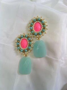 Combinacion de turquesas, perlas, cristales y Jade