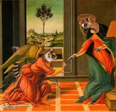 Animal Renaissance - Worth1000 Contests.    Lemurs of Annunciation