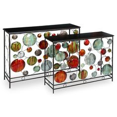 Metal Nesting Tables - Set of 2 at the Foundary... wouldnt it be cool to recreate in glass?