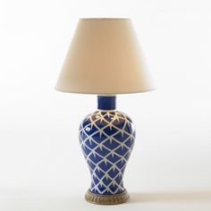 Chicken Feather Lamp (Blue) - Bunny Williams