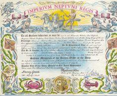 Shellback certificate more navy stuff navy docs navy dream art prints