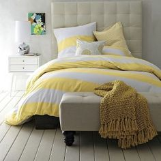 yellow duvet cover