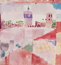 Discover Hammamet with Mosque by abstract artist, Paul Klee. Framed and unframed Paul Klee prints, posters and stretched canvases. Wassily Kandinsky, Paul Klee Artwork, August Macke, Guache, Art Abstrait, Henri Matisse, Oeuvre D'art, Art History, Painting & Drawing