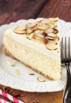 easy dessert recipes for brownies, cupcakes, cheesecake and more. Try my sugar cookie recipe or check out my tips for making the perfect cheesecake! Amaretto Cheesecake, Amaretto Cake, Best Cheesecake, Cheesecake Recipes, Dessert Recipes, Amaretto Flavor, Cookie Recipes, Just Desserts, Delicious Desserts