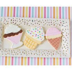 Ice Cream Cookie Cutters, Set of 3