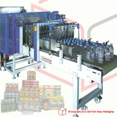 STEP Specially designed for the bottling industry. Best for packaging water bottles, softdrinks and even condiments. Packaging Machine, Fruit Trays, Water Bottles, Ps, Layers, Dairy, Industrial, Plant, The Unit