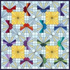 Patchwork patroon: Sunshine Butterfly