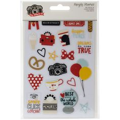 """Simple Stories Say Cheese III Clear Stickers 4""""X6"""" 3/Pkg-"""