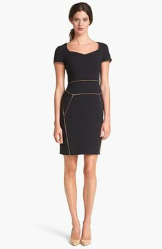 Adrianna Papell Contrast Piping Dress available at #Nordstrom