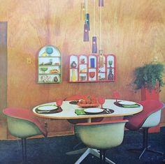 #eames #shellspotting Vintage Eames upholstered La Fonda Arm Chairs