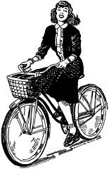lady on a bicycle Battle Of Shiloh, Bike Drawing, Bike Illustration, Bicycle Art, Beautiful Cover, American Civil War, Drawing People, Retro Fashion, Lady