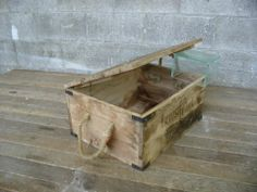 Wood Box w/ Rope Handles | Second Use, Seattle: Building Materials, Salvage, & Deconstruction