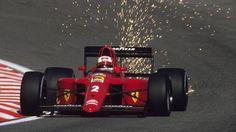 Nigel Mansell (FERRARI 641/2) Dirt Track Racing, F1 Racing, Racing Team, Drag Racing, Ferrari F12berlinetta, Nigel Mansell, Sand Rail, Nissan 370z, F1 Drivers