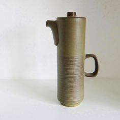 A design icon by Gill Pemberton for Denby -  a statement Coffee Pot from the 60s - wonderful colour too!