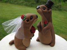 Topper de gâteau de mariage amour marmotte par theaircastle sur Etsy