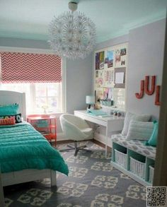 2. Fun #Patterns and Beautiful #Light Fixture - 42 #Eye-Catching Teen Room Decors for #Inspiration ... → Inspiration #Daisy