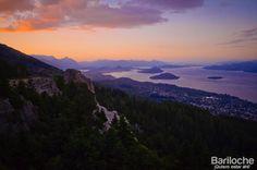 Cerro Otto. Sunset. Bariloche.