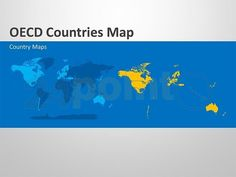 Editable PowerPoint maps: OECD countries