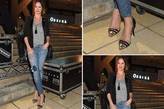 Ohlaleando: mirá lo que se puso Paula Chaves  Blazer, remera básica, jean roto y stilettos para Paula Chaves