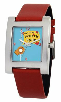 South Park Men's D1525S093 Kuban Collection Kenny Red Leather Watch South Park. $15.64. Precise Japanese-quartz movement. White dial with South Park artwork. Genuine leather strap with buckle. Water-resistant to 99 feet (30 M). Durable mineral crystal. Save 61% Off!