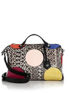Fendi - By The Way Large Dotted Snakeskin Satchel.  If I hit the lottery, I WILL buy this bag.