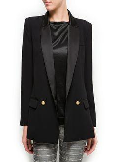 Satin lapels masculine cut blazer - perfection!