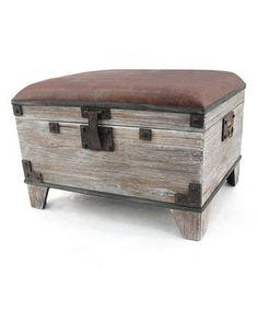 Love this Vintage White Storage Trunk/Bench by Screen Gems Furniture Accessories on #zulily! #zulilyfinds