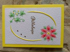 Paper Embroidery, Flower, Cards