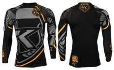 Contract Killer CK Long Sleeve Rashguard - Black & Yellow at http://www.fighterstyle.com/contract-killer-ck-short-long-sleeve-rashguard/