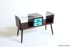 Mid century modern console table in 1/6 scale