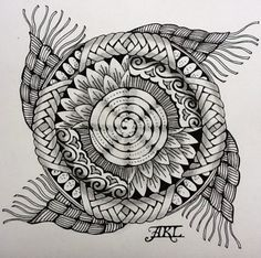 zentangle | drawing students how to design mandalas and fill them with zentangle ...