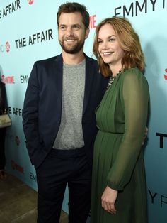 """Joshua Jackson and Ruth Wilson, cast members in the Showtime series """"The Affair,"""" pose together before a screening and panel discussion for the show on May 6 in Beverly Hills. Chris Pizzello, Invision via AP Ruth Wilson, Showtime Series, Cast Member, Beverly Hills, Affair, Jackson, Suit Jacket, It Cast, Entertainment"""
