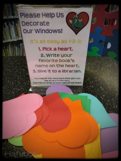 Great idea for any level school library! School Library Displays, Middle School Libraries, Library Themes, Elementary School Library, Library Activities, Library Ideas, Library Events, School Library Decor, School Library Lessons
