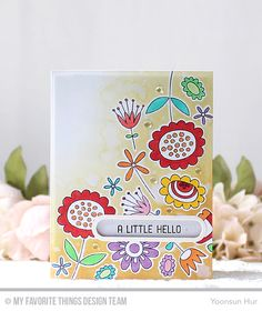 Springtime Blooms Stamp Set and Die-namics, Stitched Oval Word Windows Die-namics, Oval Word Window Frames Die-namics - Yoonsun Hur  #mftstamps