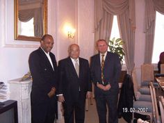 Donald Sweeting with His Excellency Basil Obrien, Former Bahamas High Commissioner to UK and Nick Taylor Head of Faculty for Business and Law at University Of Lincoln.