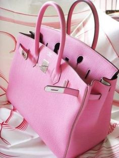 Hermes Birkin Baby Pink Handbag- Hermes handbags collection http://www.justtrendygirls.com/hermes-handbags-collection/