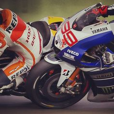 Rubbin' is racin'... This is awesome !!!!!!!!!!!!!!! Lorenzo touching marquez! Squeeky bum time - literally!