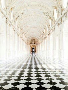 Inspiring photo of Château de Chenonceau, Loire Valley, France. So perfect, though I would floor in sepia tones. Art Et Architecture, Beautiful Architecture, Beautiful Buildings, Beautiful Places, Beautiful Pictures, Checkerboard Floor, Loire Valley, Interior And Exterior, Palace Interior