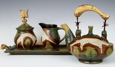 It's like teapot mecca: The National Teapot Show at Cedar Creek Gallery in Creedmoor, NC. I must go...