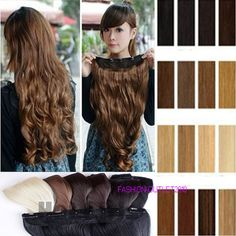 Magnificent Heat Resistant Synthetic Clip In Hair Extensions 3/4 Full Head Newly #New #HairExtension