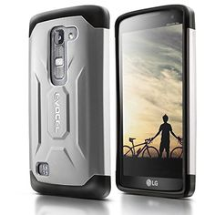 Evocel® LG Escape 2 / Spirit H443 Case [X-Generation Series] Slim Fit Dual Layer Design Hybrid Armor Protective Case For LG Escape 2 / LG Spirit H443 (AT&T / Cricket) - Retail Packaging, Silver Evocel http://www.amazon.com/dp/B010QUNDE8/ref=cm_sw_r_pi_dp_d5dLwb1KASVR1
