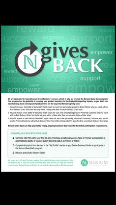 Nerium gives back www.tracijacob.arealbreakthrough.com