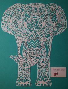 Digital download 'Humphrey elephant' by LauraLadybugDesigns